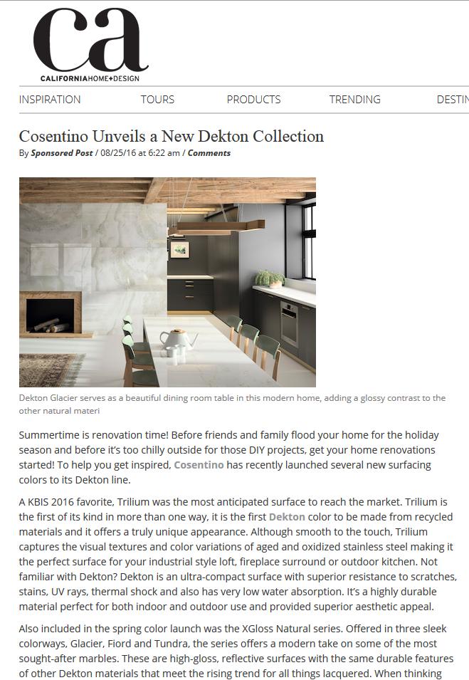 California Home + Design, Aug. 2016