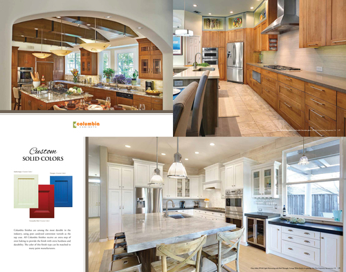Columbia Cabinets Brochure 2014, 2 NFC Projects Featured
