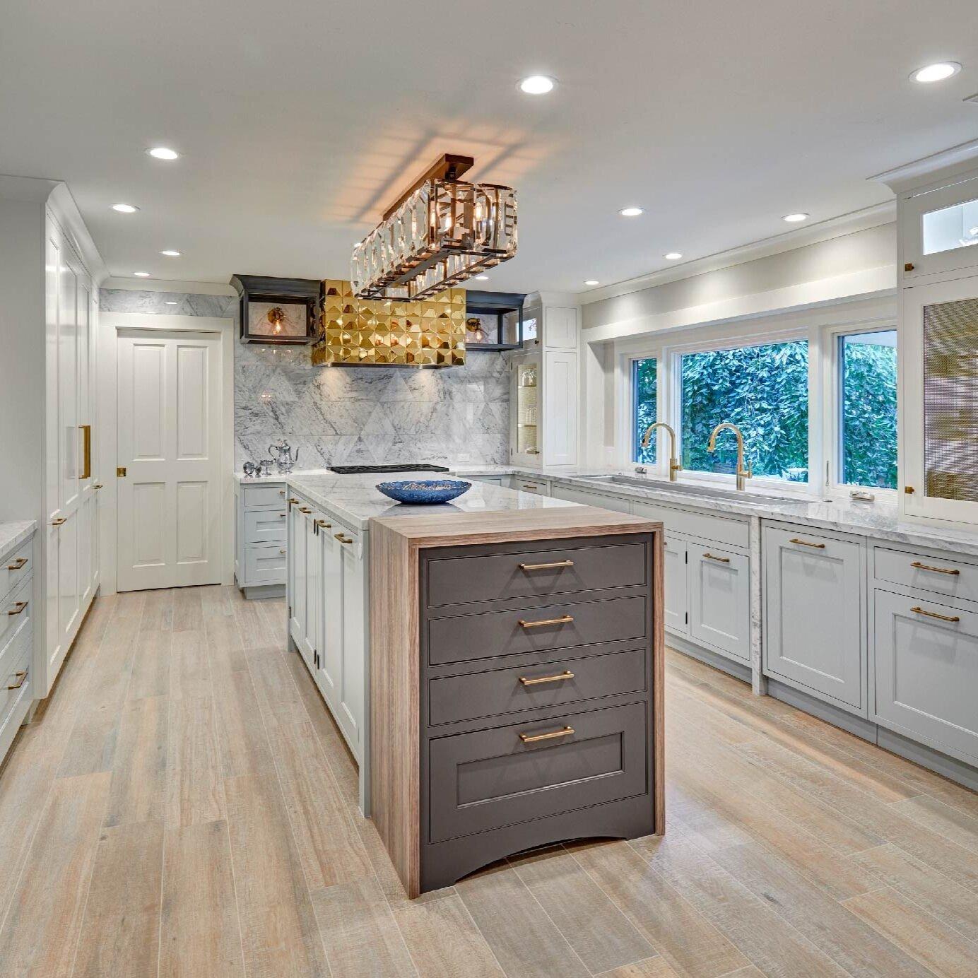 glamorous gilded kitchen
