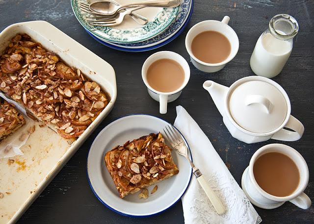 Apple almond focaccia