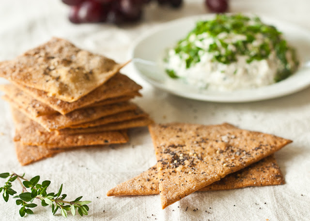 Whole wheat buttermilk crackers