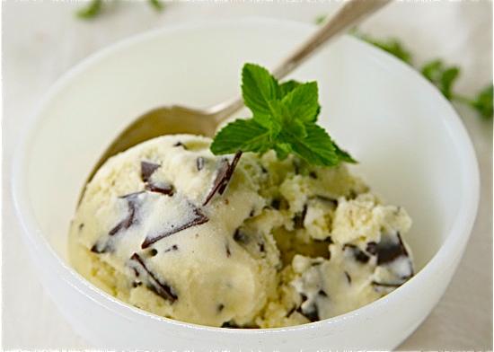 Mint chocolate chio ice cream
