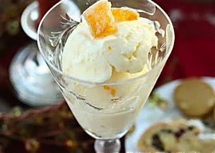 Orange frozen yogurt