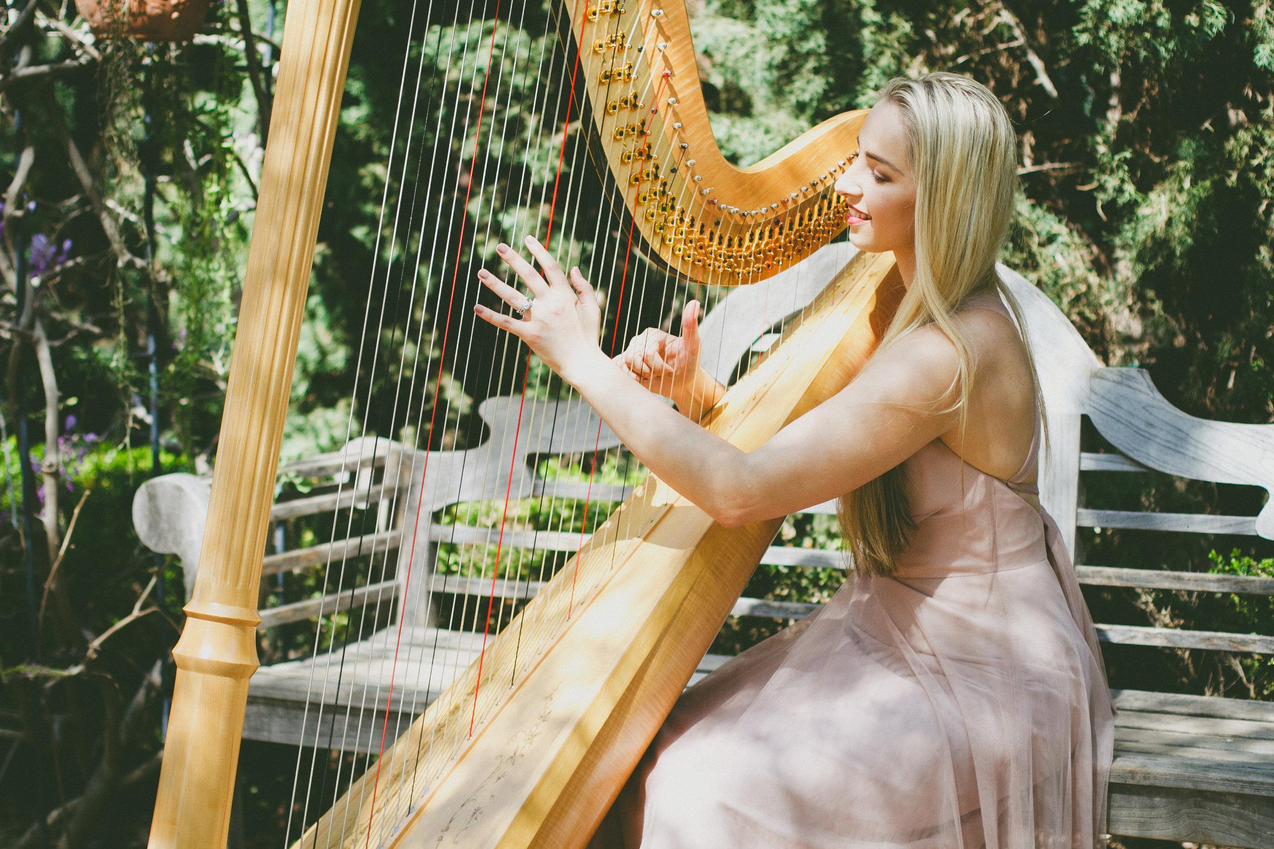 portrait + fashion + harpist