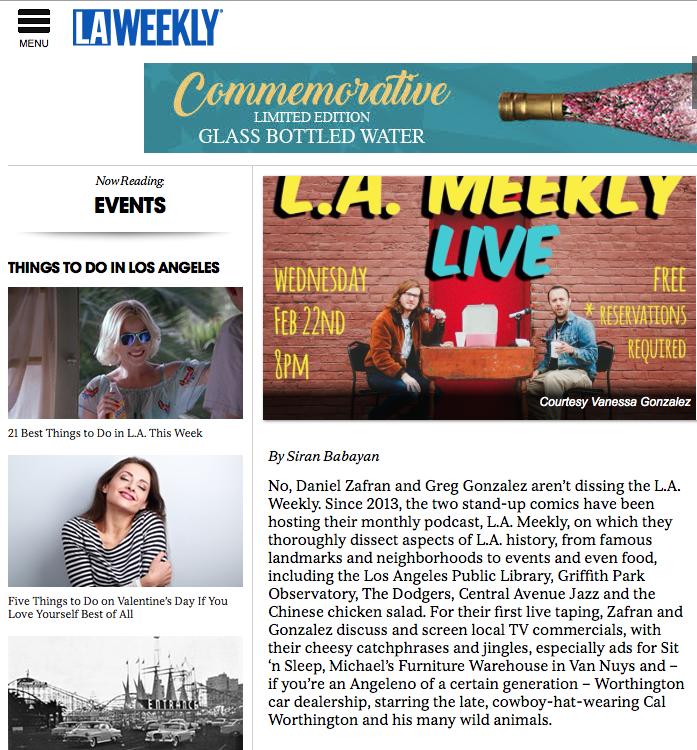 LA Weekly | L.A Meekly