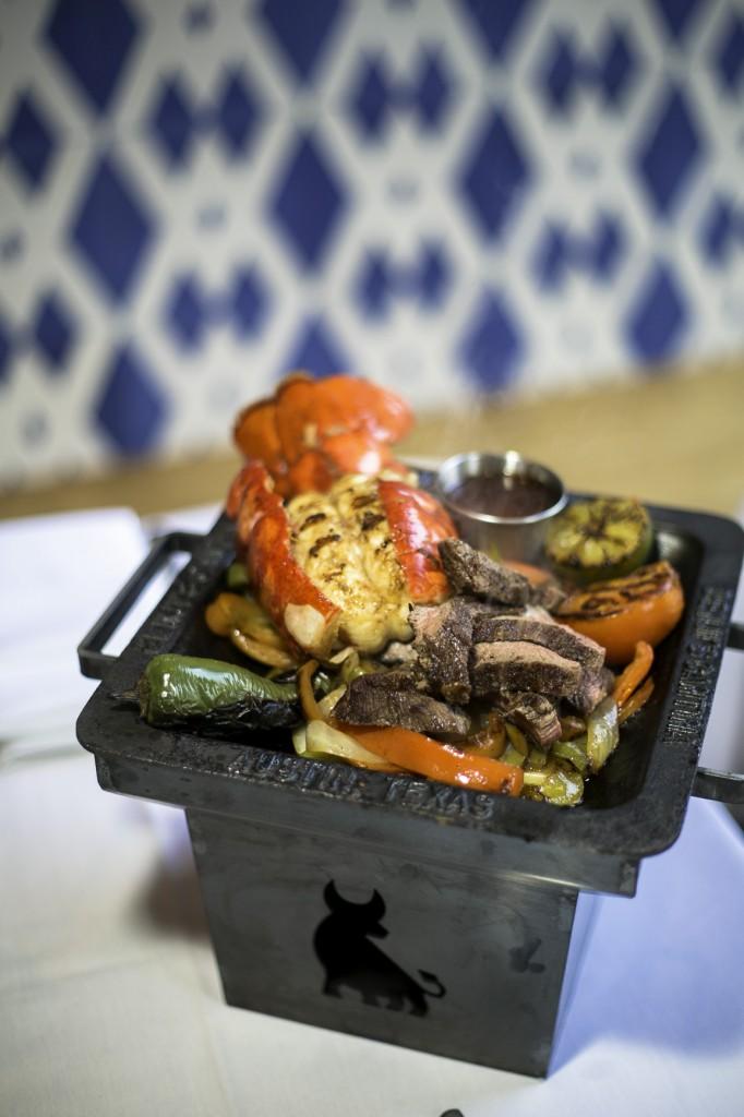 Benji's Cantina,  Austin, TX. Custom cast iron Fajita Pan serving ware for the restaurant. 2013.