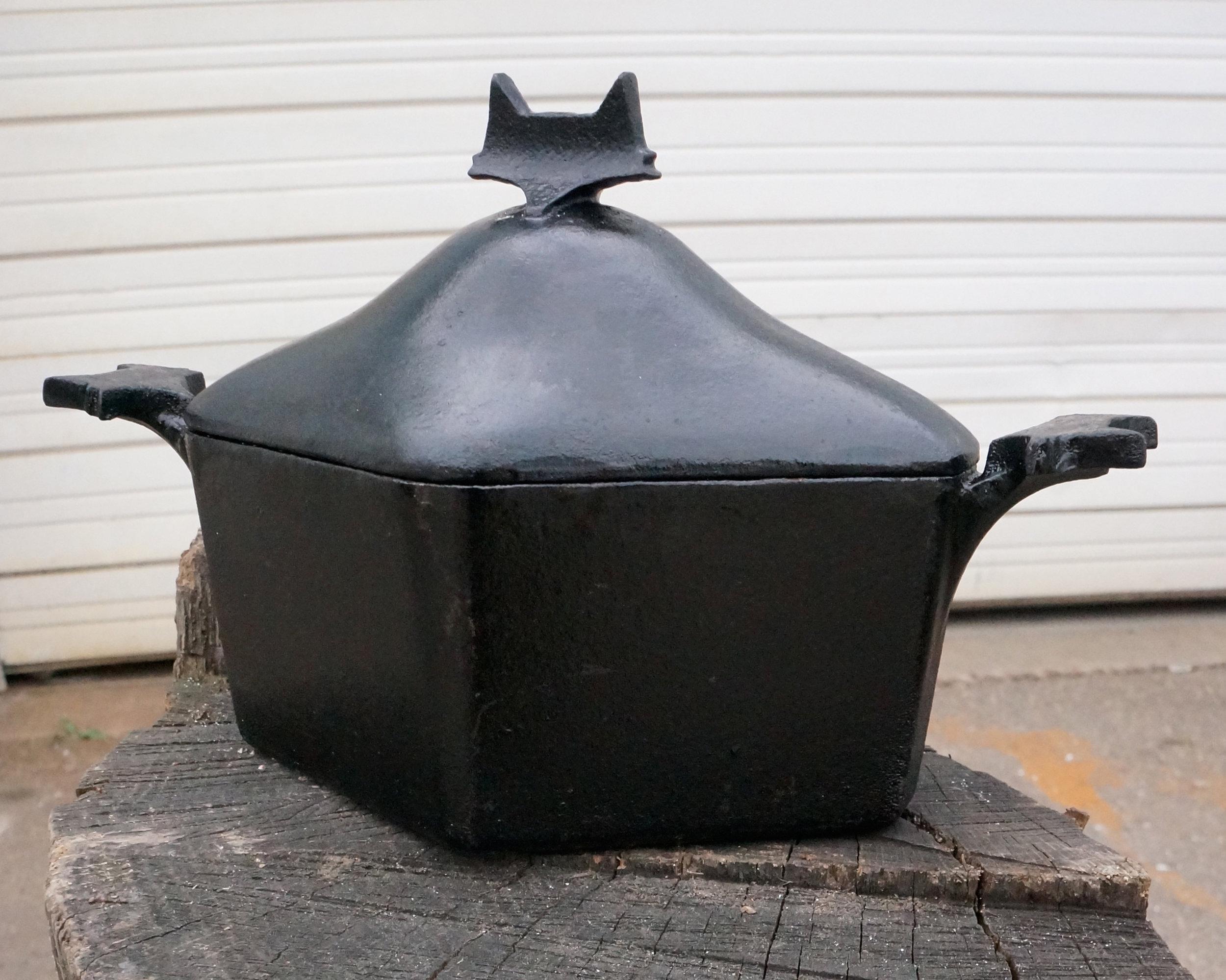 Fox Heritage Mini Coquette (2014)  Custom cast iron coquette for Fox Heritage Tavern, Madison, WI.