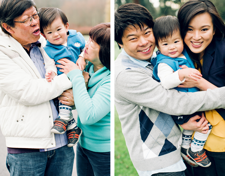 Jeremy's parents are visiting from Malaysia so they came for pics as well! I love pics with grandparents.