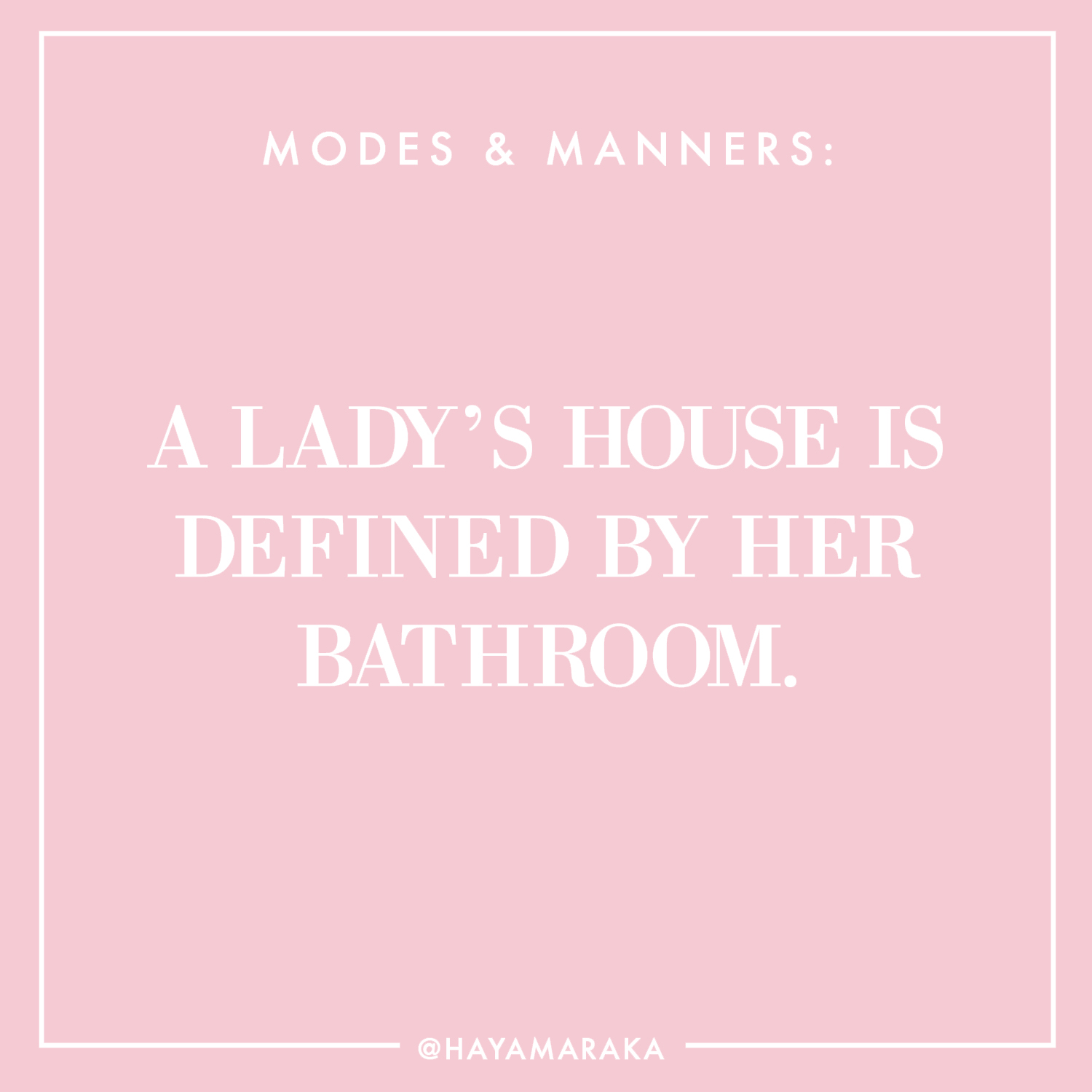 Haya's Modes & Manners