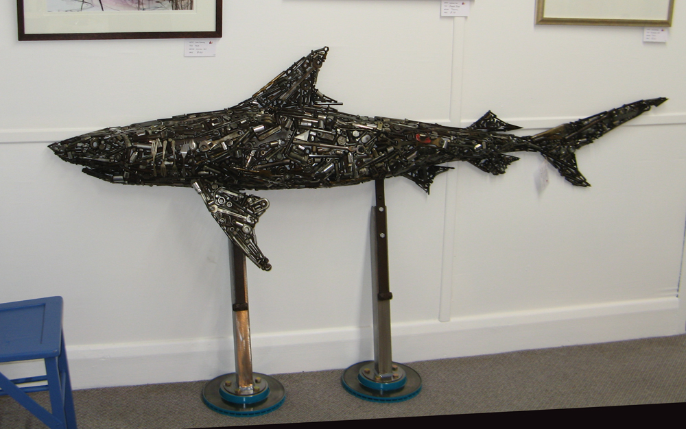 shark on stand