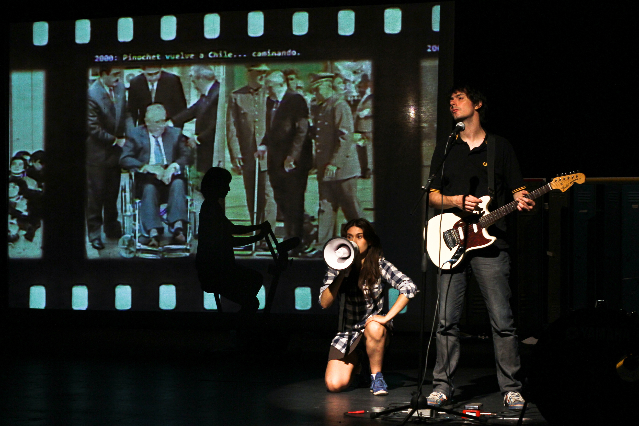 With the youthful energy of a new generation, and bolstered by original live music, 11 Chileans born under Pinochet's dictatorship take to the stage to reconcile a collective history. Somewhere between stunt doubles and historians, they don their parents' clothes and reconstruct their past from photos, letters, and recordings in this raw and honest act of storytelling.     Photo credit: David Alarcón