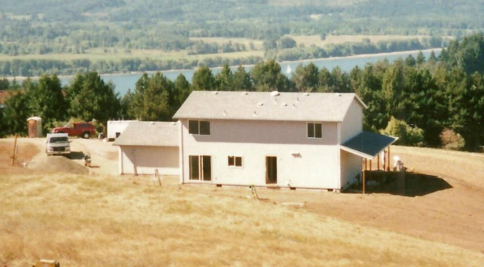 This 2,100 square foot, two-story home was built by carving into the lot's hillside to take advantage of a beautiful view of the Columbia River. The 4-bedroom, 3-bathroom home also came with a detached, 4,800 square foot shop.