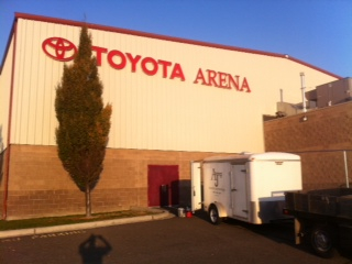 AJ Construction and Development remodeled the locker rooms at the Toyota Arena.