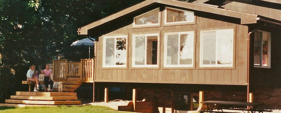 The finished product!This 300 square foot  home addition  created an open and airy sunroom for our customer that perfectly mimicked the materials used in the rest of her home, both inside and out.