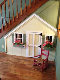 Under-the-stairs playhouse