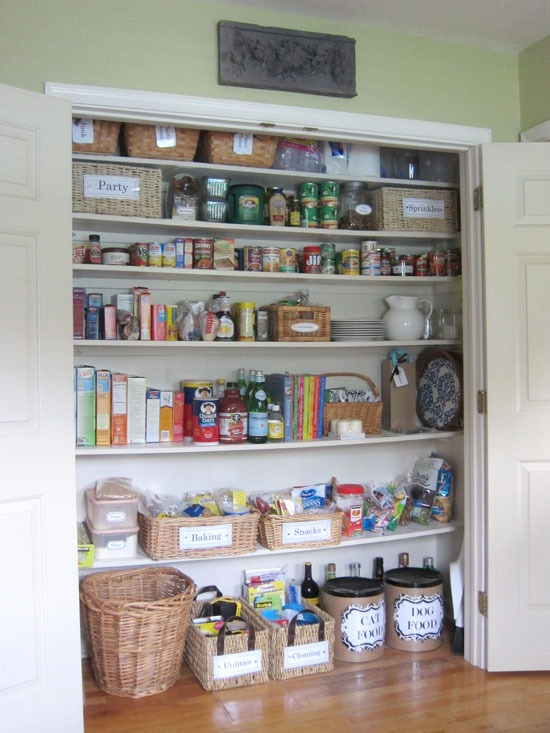 Closet turned into a pantry