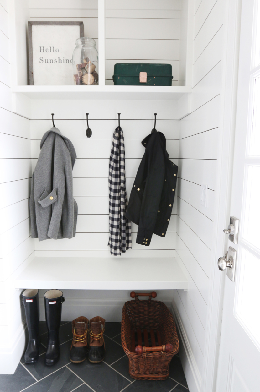 - Simple and clean: tucked into a hallway by the back door