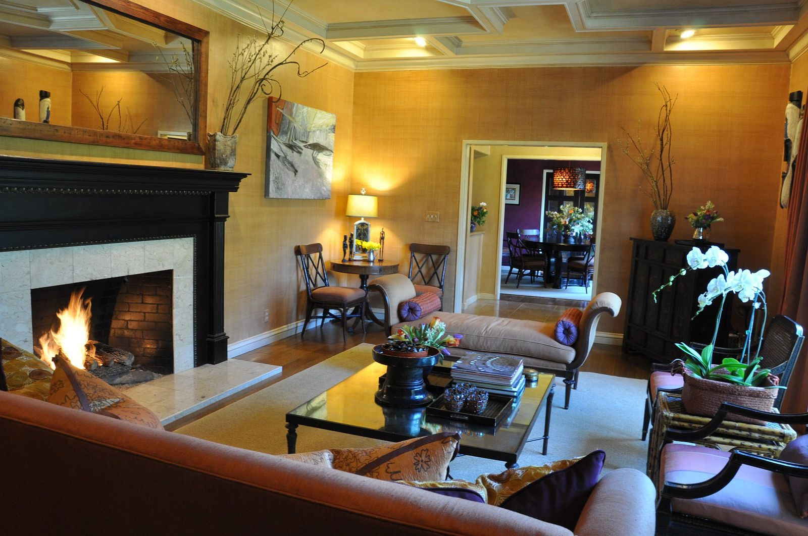 living fire place