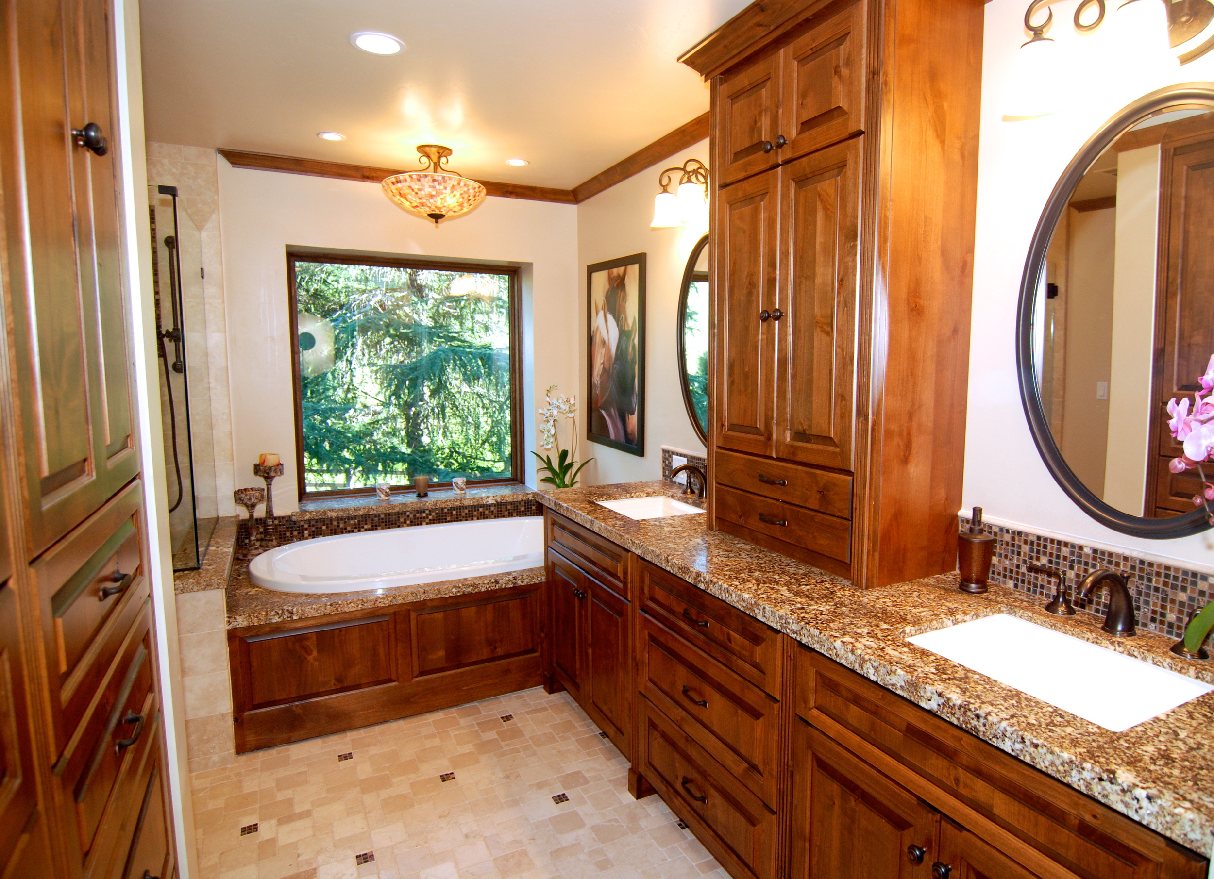 master bathroom granite counter