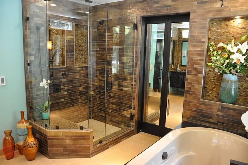 master bathroom corner shower
