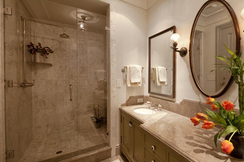 gold seashell bathroom shower