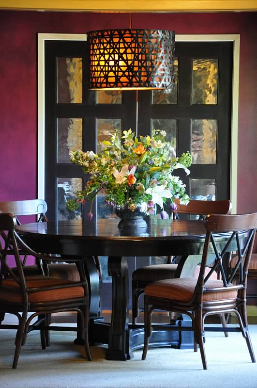 Colorful dinning table