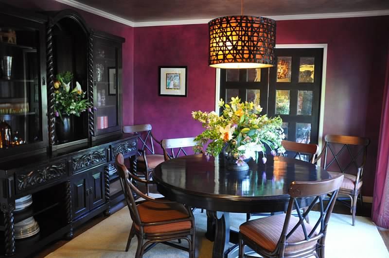 Dining room purple