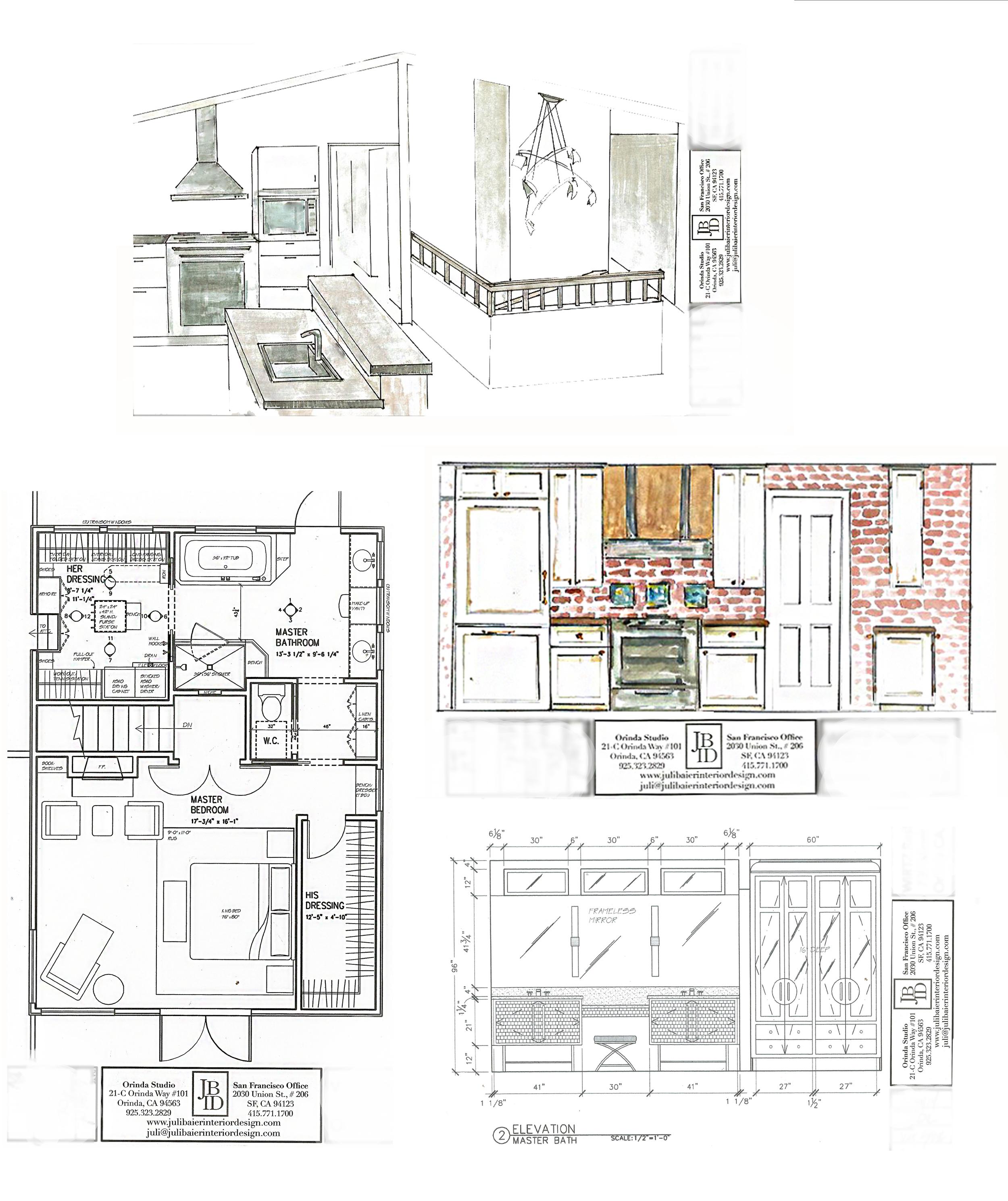 Render collage interior design