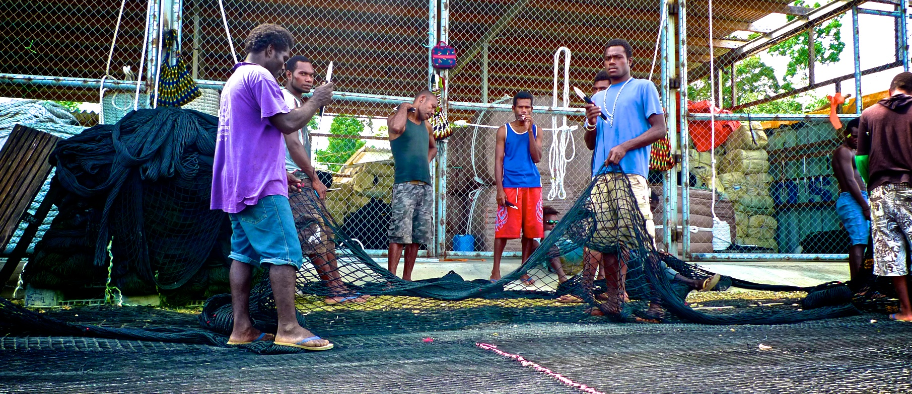 Net mending and building employs plenty of local youth