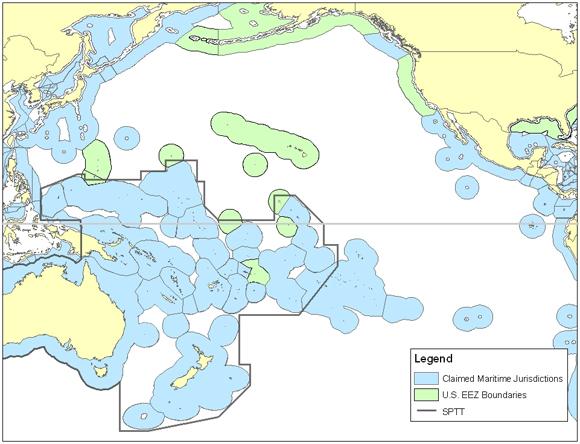 US - South Pacific Tuna Treaty Boundary