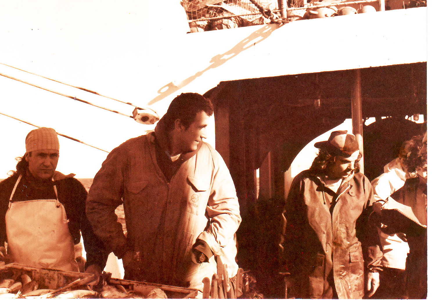 With 2 of my best friends on the deck of a trawler (South Atlantic early 90s)