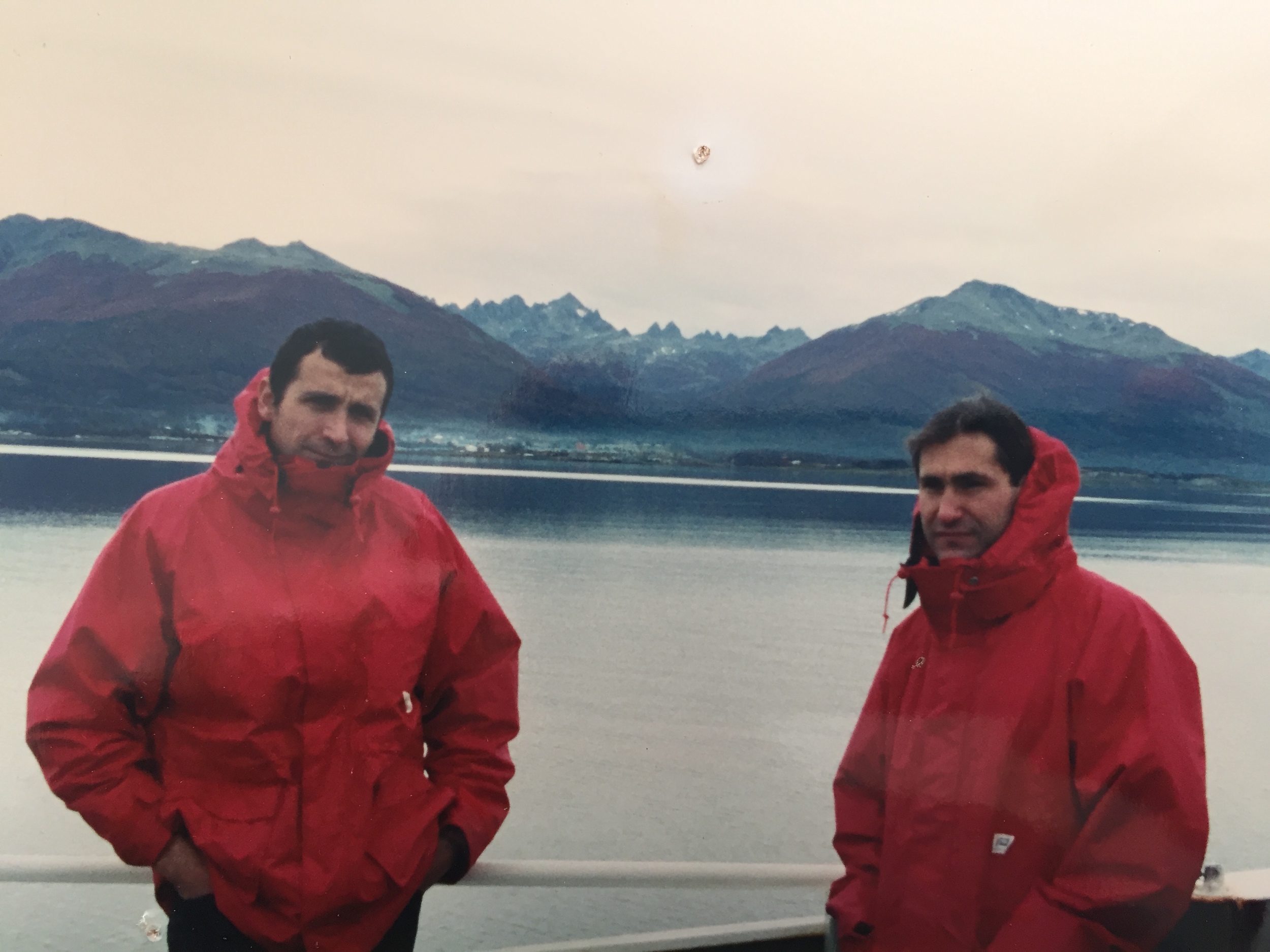 Getting ready to land in Ushuaia after 7 weeks at sea! (early 90s)