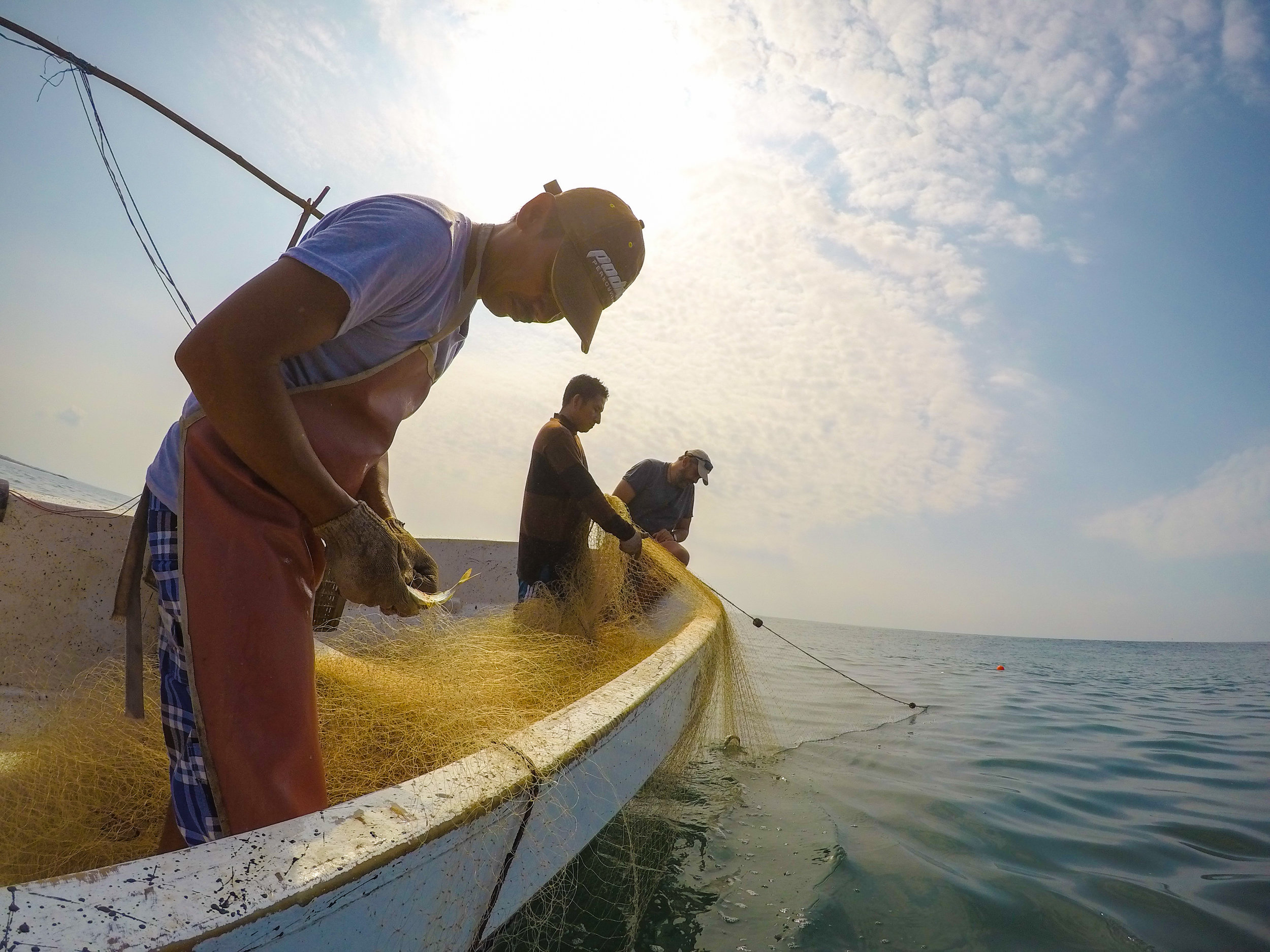 spending the day at sea with artisanal fisherman in Guatemala, my best way to get info