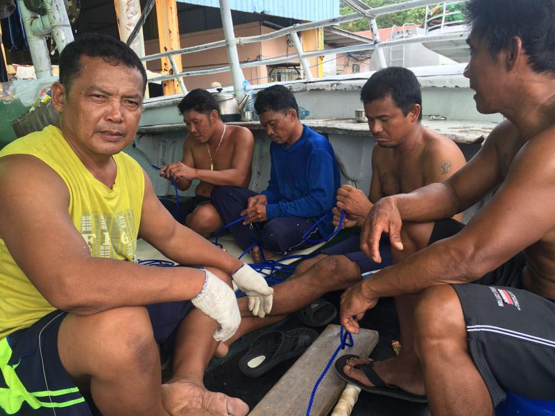 fisherman in port