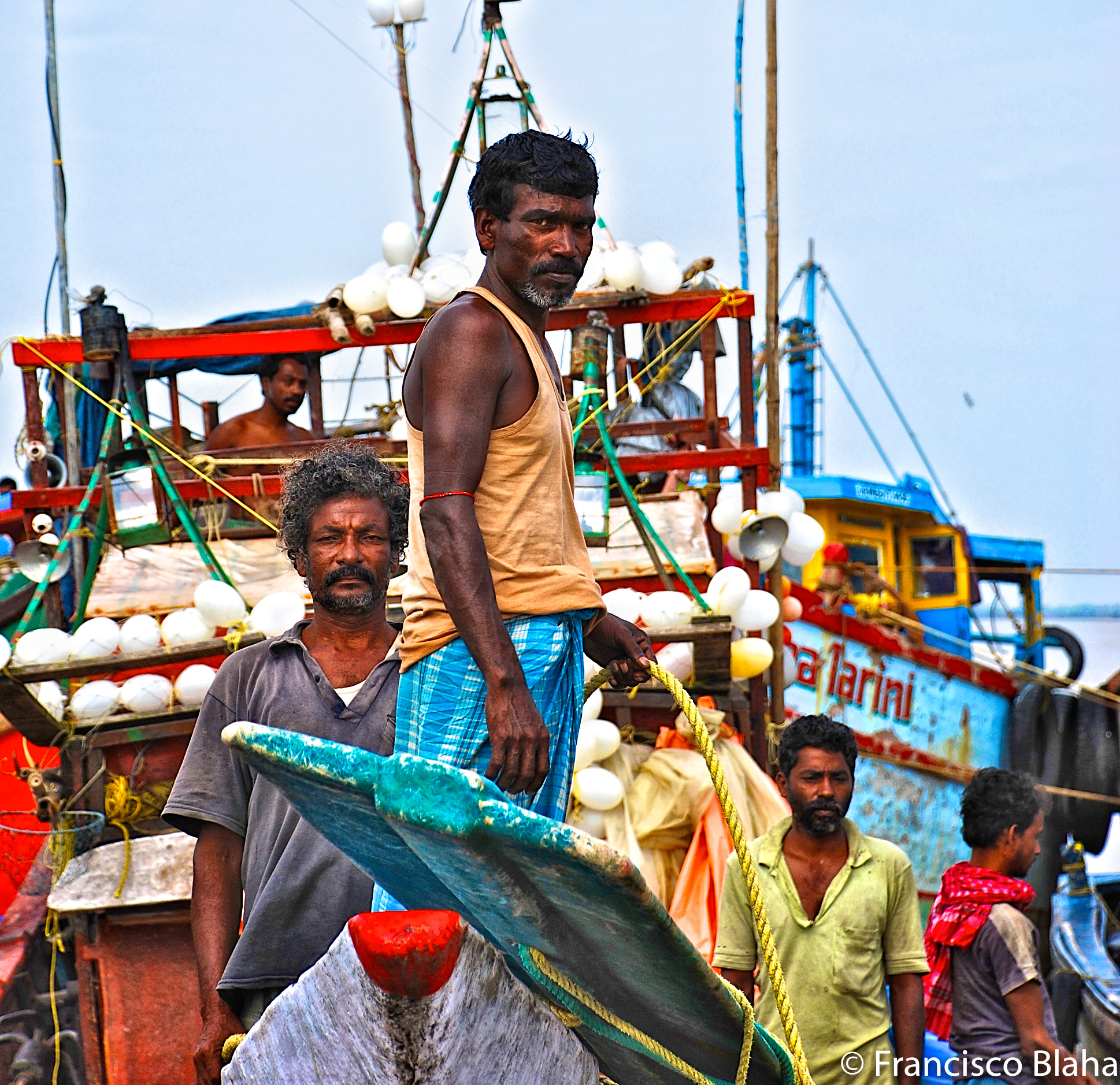 Took this picture while fishing in Coastal trawlers in the Gulf of Bengal in 2008. Marge shares for many days fishing... Really a hard life for those guys