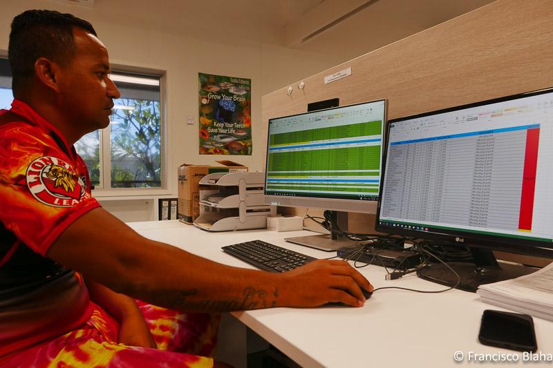 Uni, Tuvalu's transhipment guru has all under control.