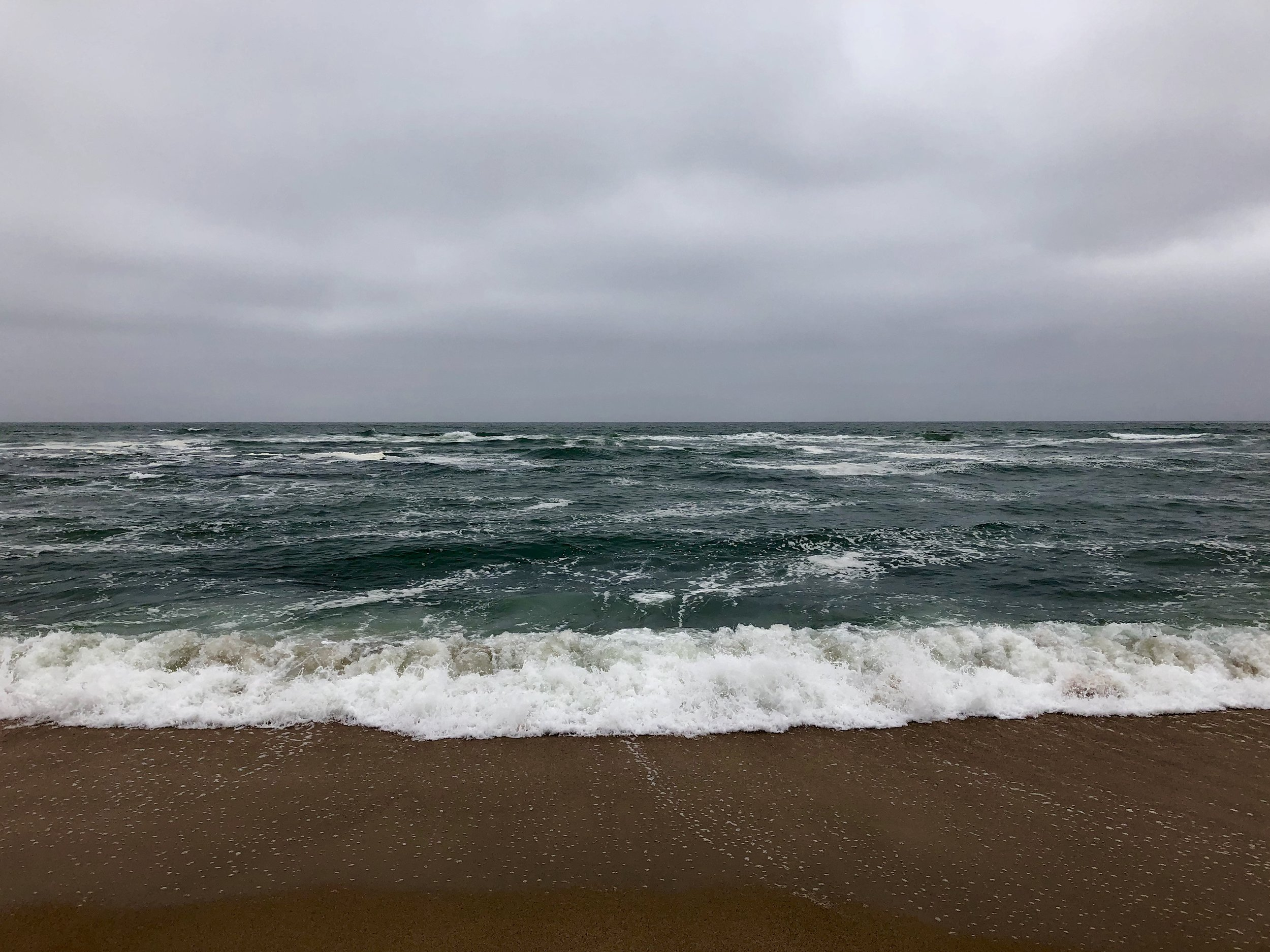 The cold and grey Atlantic… where my fishing life started