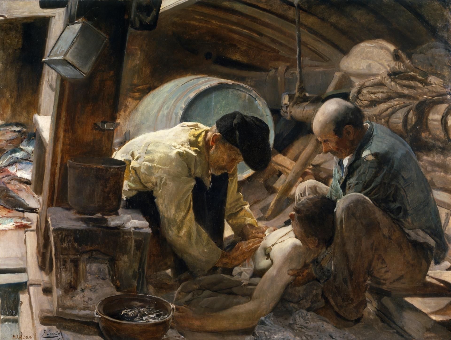 And They Still Say Fish Is Expensive! 1894 .  Oil on Canvas Joaquín Sorolla y Bastida. ©Museo del Prado. Madrid