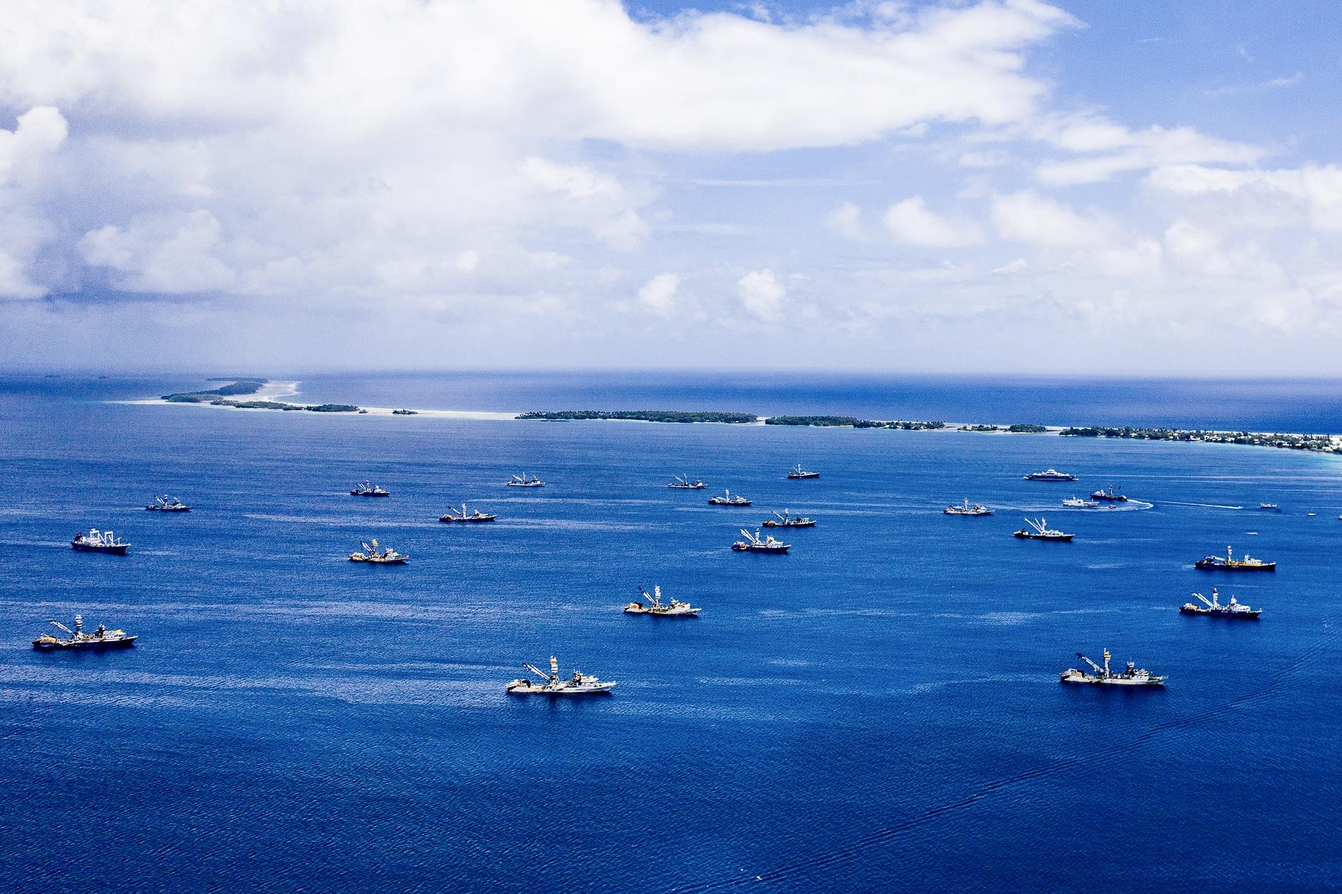 the Tuna Armada (drone pic by Garry Venus)