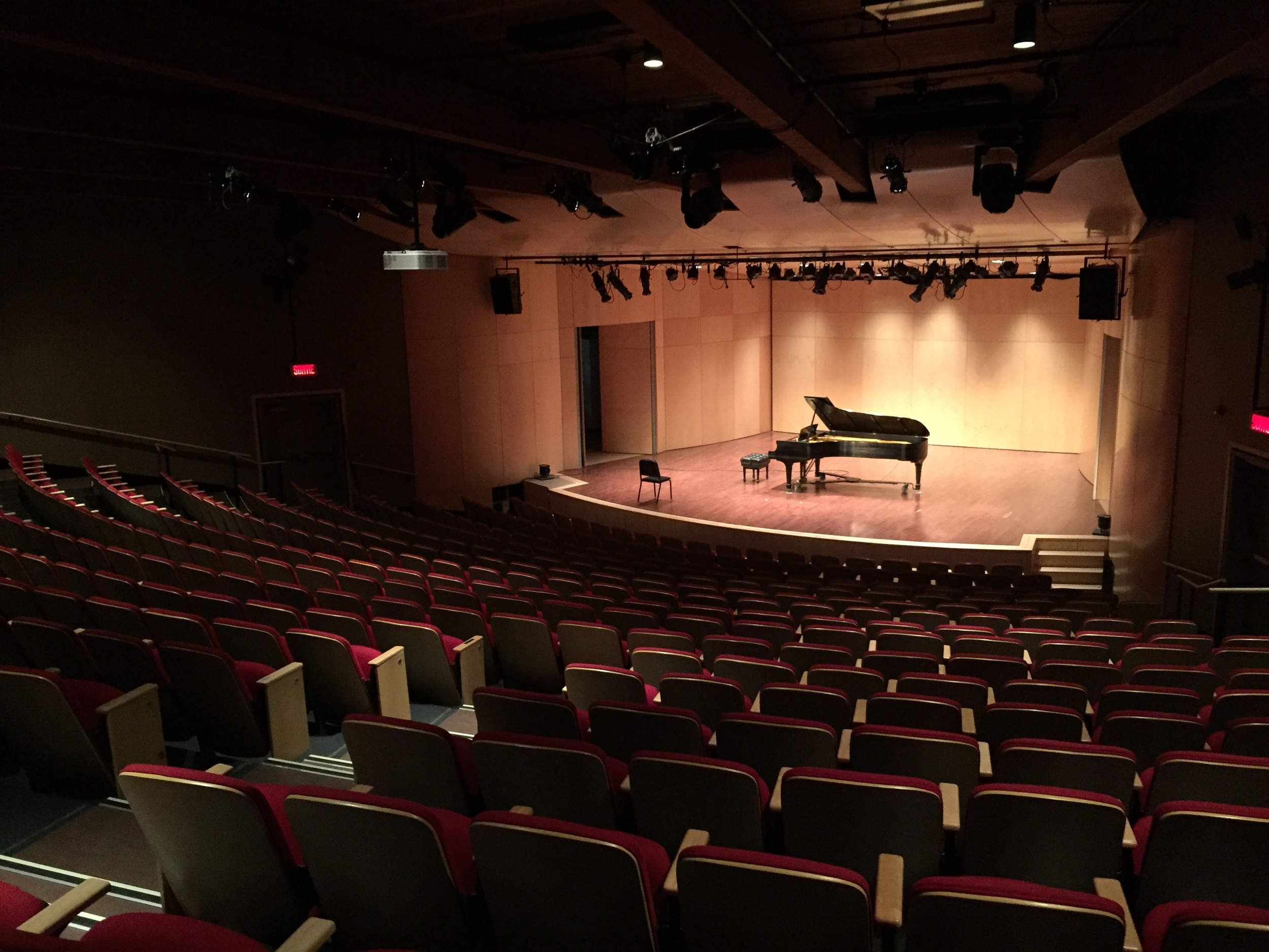 The Gilles-Lefevbre Hall at the Orford Arts Center where I gave a Chopin recital. (August 7, 2015)