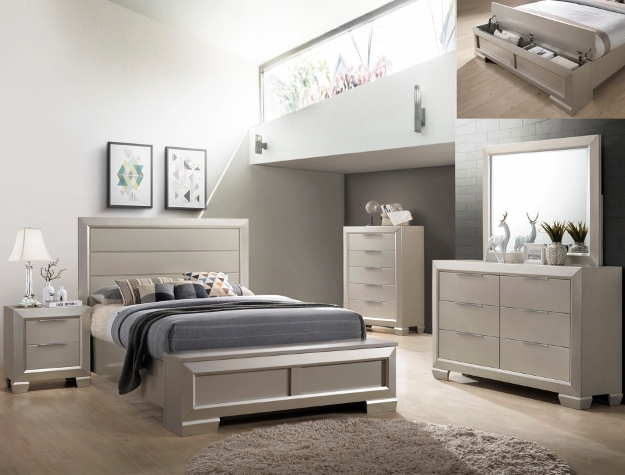 Paloma storage Queen bedroom set (chest included) — SmartBuy Furniture