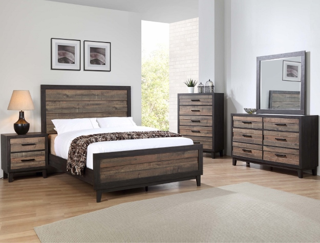 Tacoma Two Tone Queen Bedroom Set Chest Included Smart Furniture