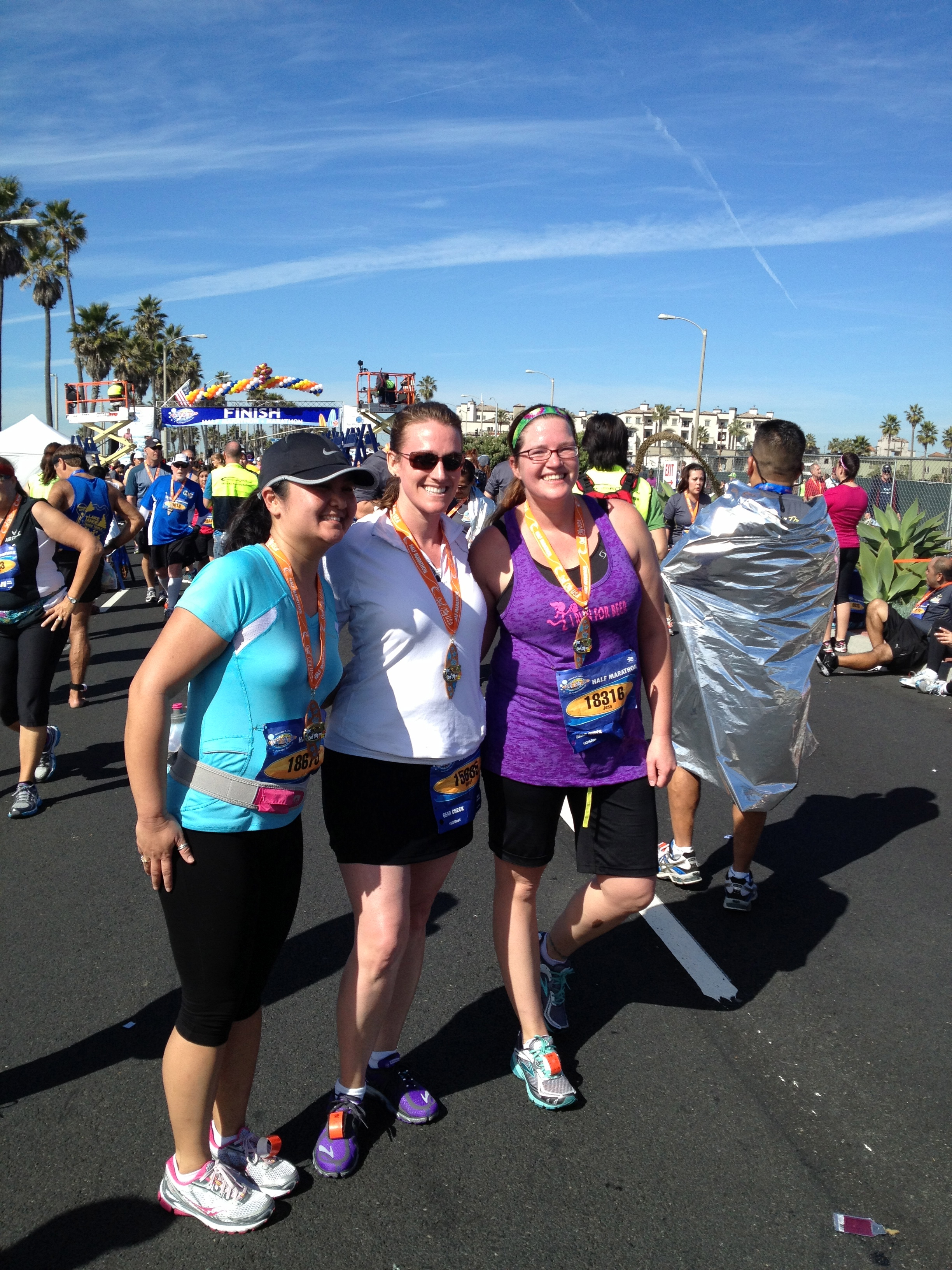 Finish line- Surf City Marathon/Half Marathon 2013