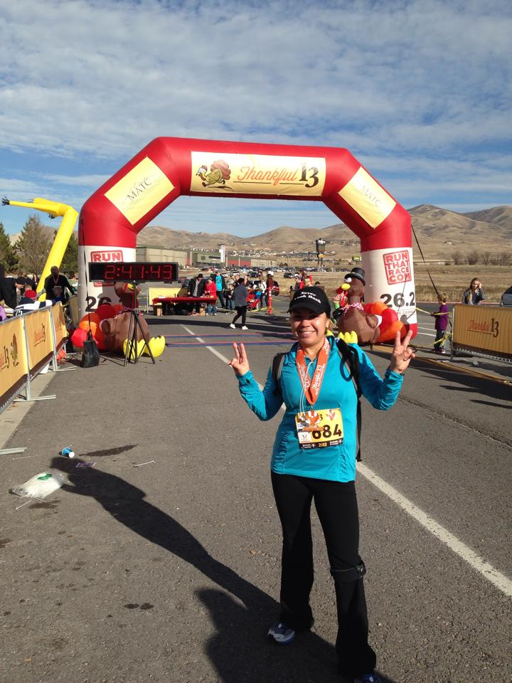Ibana at the Thankful Half finish 2013