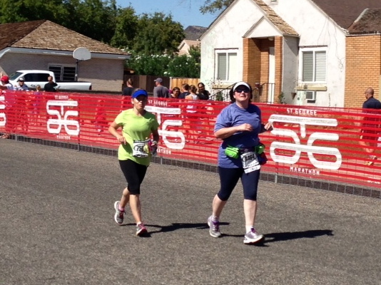 Finish line St George Marathon 2012