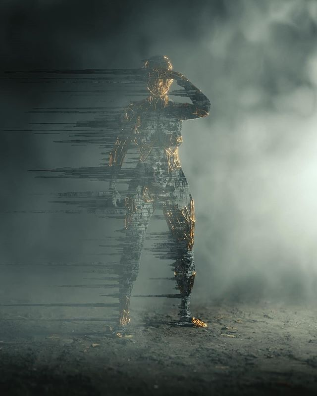 0x05⠀ ⠀ #b3d #cyclesrender #photoscan #voxel #digital #art #polytrash #styleframe #research #decimation #3D #CG #mograph #design #graphics #searching #woman #female #figure #character #mist #volumetrics #photogrammetry #mdcommunity #mgcollective