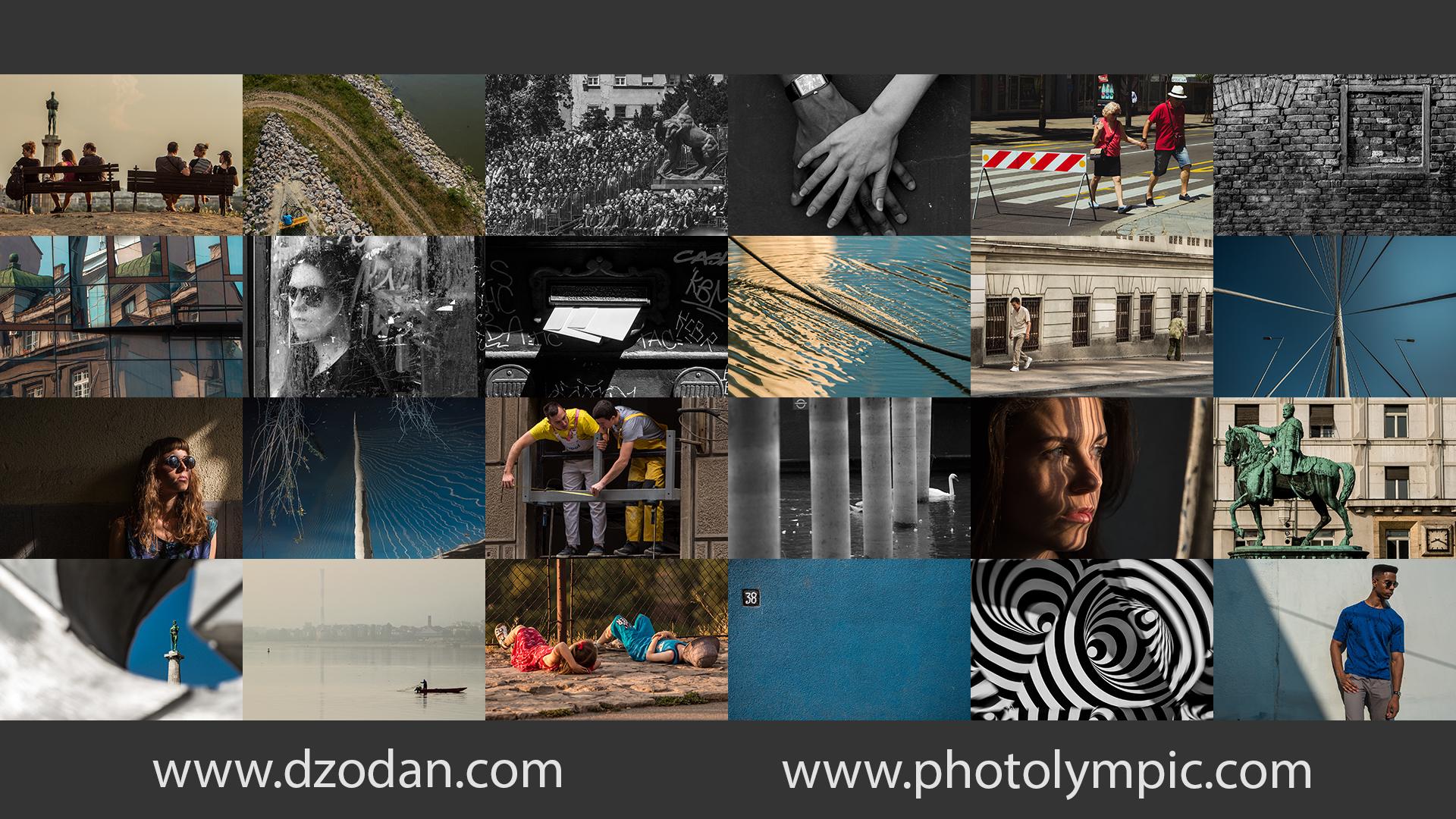 Kolaž fotografija koje su bile moji odgovori na 24 teme sa prethodne Fotolimpijade