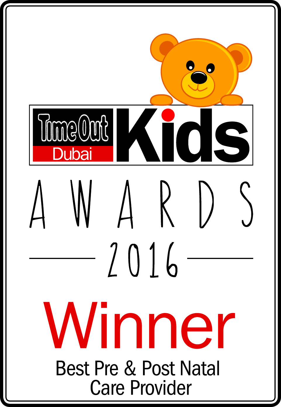 Time Out Dubai Kids Awards 2016 - Winner - Best Pre & Post Natal Care Provider.jpg
