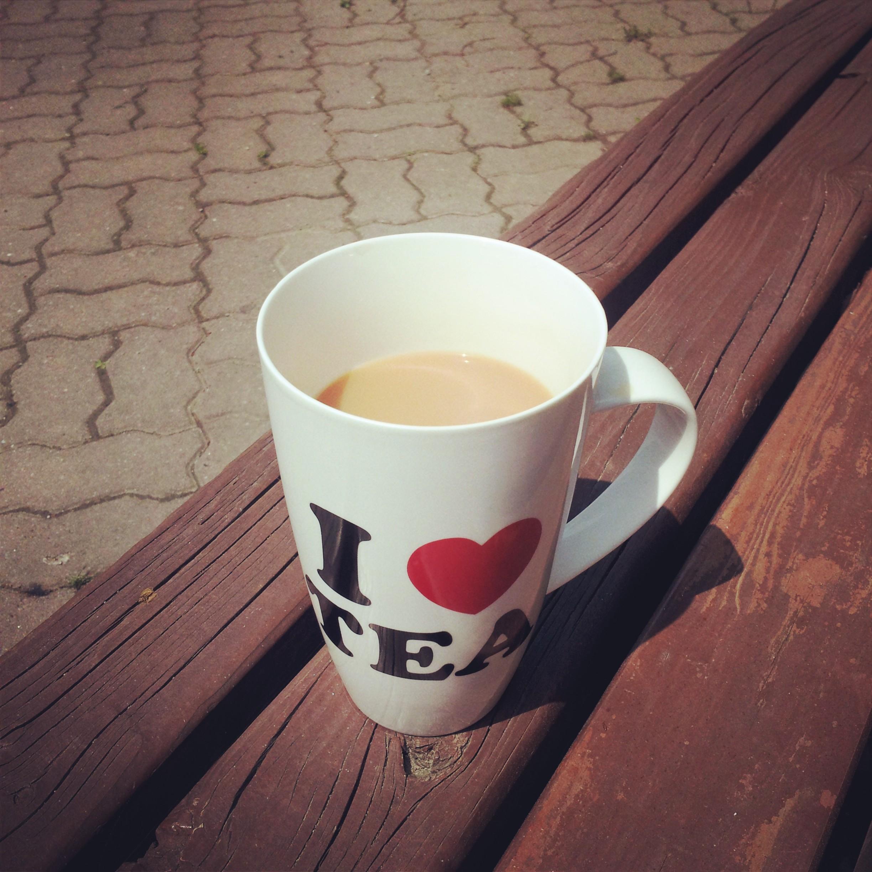 I love tea...I especially love tea in my new mug!