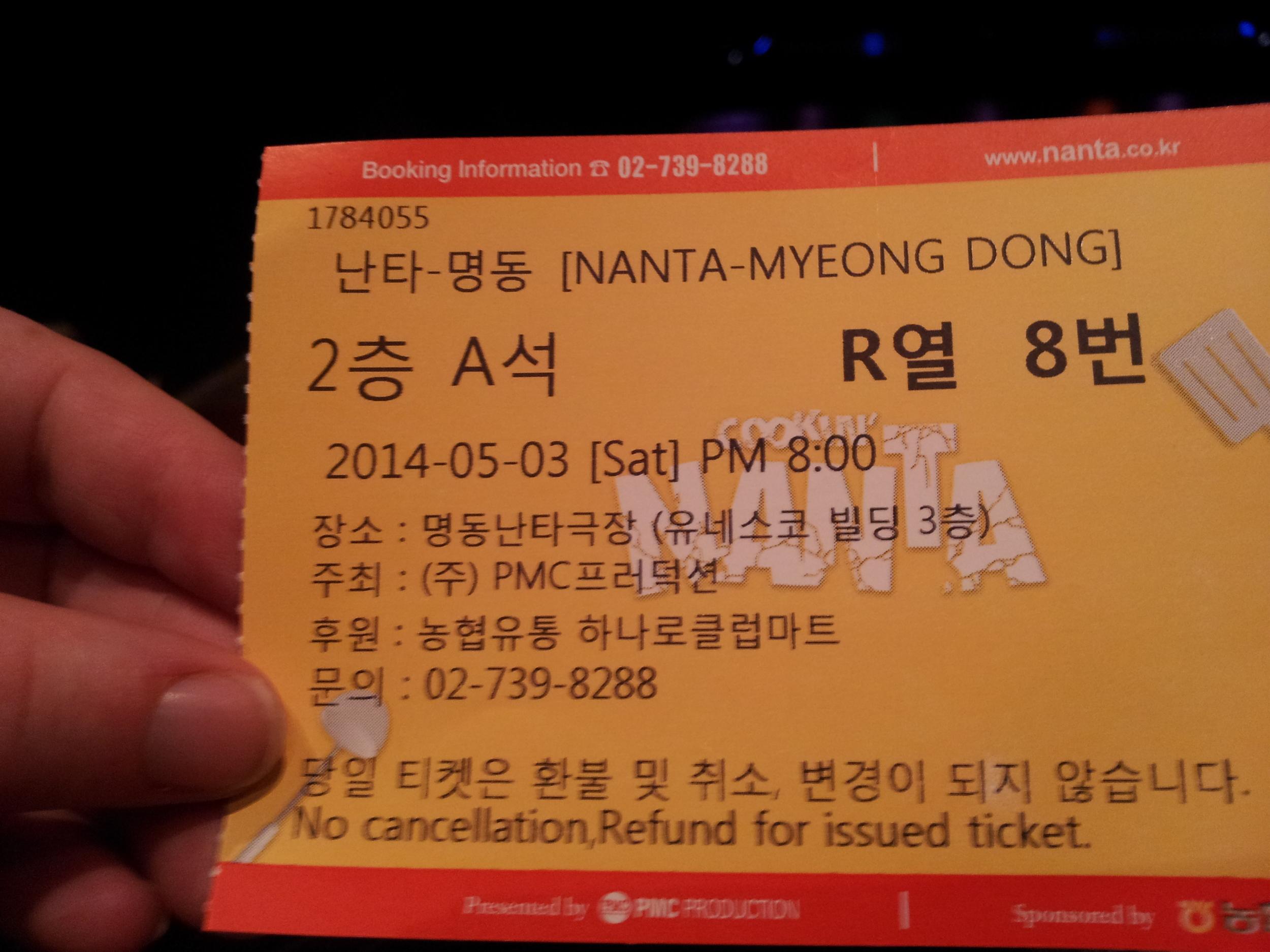 Nanta Ticket